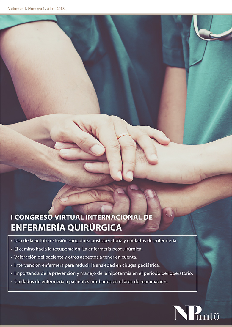 Portada de I Congreso Virtual Internacional en Enfermería Quirúrgica